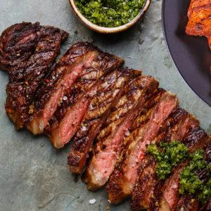 Chimichurri Steak & Sweet Potato Mash
