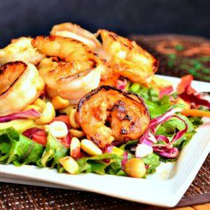 Garlic Ginger Shrimp Salad