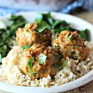 Turkey & Veggie Meatballs With Lemon Rice