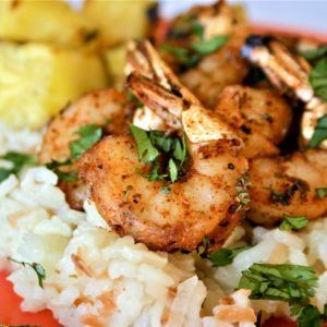 CaboWabo Shrimp With Cilantro Lime Rice